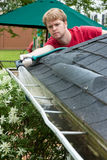 Cleaning Gutters Stock Photography