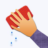 Cleaning hands Royalty Free Stock Photos