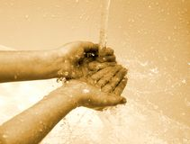 Cleaning hands Royalty Free Stock Photography
