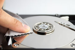Cleaning hard disk Stock Photos