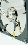 Cleaning a hard drive Stock Photos