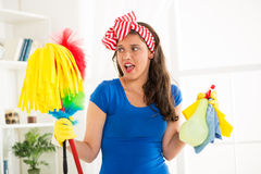 Cleaning home Royalty Free Stock Photography