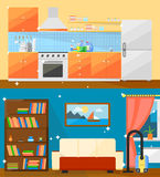 Cleaning home vector illustration. Stock Images