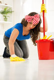 Cleaning home Stock Images