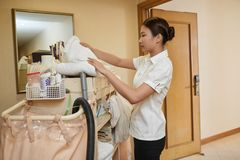 Cleaning hotel Stock Photography