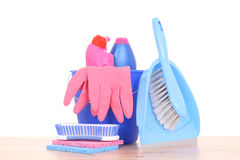 Cleaning house Stock Photo