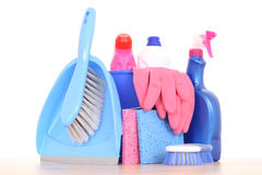 Cleaning house Royalty Free Stock Images