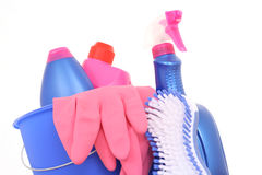 Cleaning house Royalty Free Stock Photo