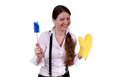 Cleaning in the house Royalty Free Stock Photography
