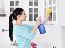 Cleaning the house Stock Photos