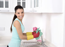Cleaning the house Stock Images
