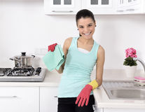 Cleaning the house Stock Image