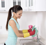 Cleaning the house Royalty Free Stock Photo