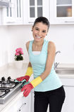 Cleaning the house Royalty Free Stock Photos
