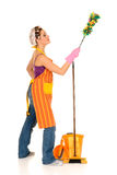 Cleaning housewife Royalty Free Stock Image
