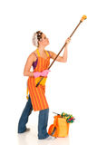 Cleaning housewife Stock Photo