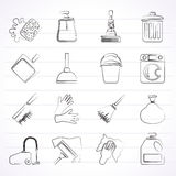 Cleaning and hygiene icons Stock Photography