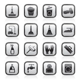 Cleaning and hygiene icons Royalty Free Stock Image