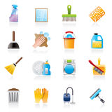 Cleaning and Hygiene icons Stock Image
