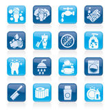 Cleaning and hygiene icons Royalty Free Stock Photography