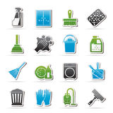 Cleaning and Hygiene icons Royalty Free Stock Images
