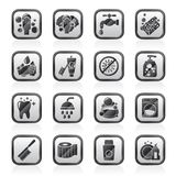 Cleaning and hygiene icons royalty free illustration