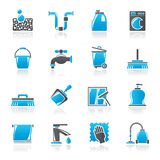 Cleaning and hygiene icons Stock Photo