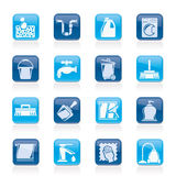 Cleaning and hygiene icons stock illustration