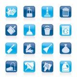 Cleaning i higieny ikony ilustracja wektor