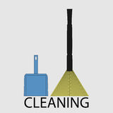 Cleaning icon flat Royalty Free Stock Image