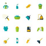 Cleaning Icon Flat Royalty Free Stock Photo
