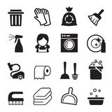 Cleaning icon. Set Vector Illustration Graphic Design Stock Images