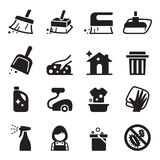 Cleaning icon set royalty free illustration