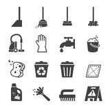 Cleaning icon Stock Image