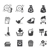 Cleaning icon Stock Photos