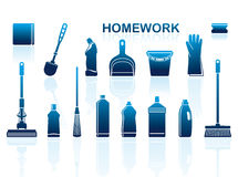 Cleaning icons Royalty Free Stock Photography