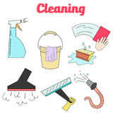 Cleaning icons flat modern style icon Stock Images