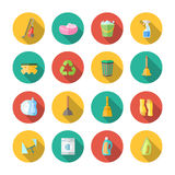 Cleaning Icons Flat Set Royalty Free Stock Photography