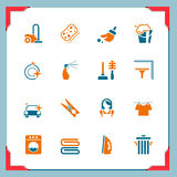 Cleaning icons | In a frame series Royalty Free Stock Photos