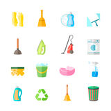 Cleaning Icons Set Royalty Free Stock Photography