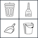 Cleaning Icons Set Stock Images