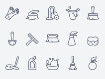 Cleaning icons Stock Photos
