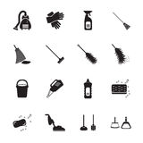 Cleaning icons set. Vector Stock Image