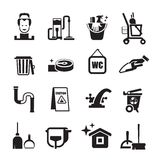 Cleaning icons set Stock Photography