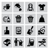 Cleaning icons Royalty Free Stock Photo