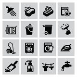 Cleaning icons Royalty Free Stock Photos