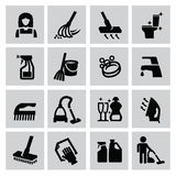 Cleaning icons Stock Photography