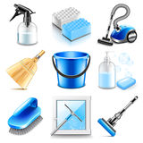 Cleaning icons vector set Royalty Free Stock Images