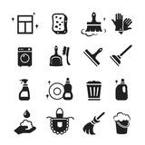 Cleaning Icons Vector set Stock Photo