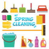 Cleaning icons vector set. Icons of clean service and cleaning t Stock Image